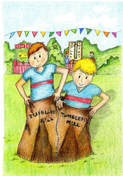 Three Legged Sack Race from Its An Ill WInd a Mucklebury Short Story