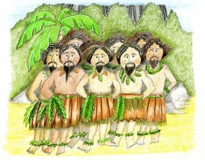 Islanders on Vanatatamanuatu from The Navys Loss a Mucklebury short story